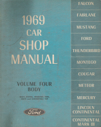 1969 Ford Car Body Service Manual - Volume 4