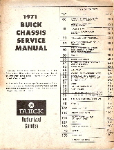 1971 Buick Chassis Service Manual, All Series