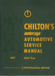 1964 - 1971 Chilton's Automotive Service Manual