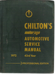 1972 Chilton's Automotive Service Manual