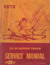 1972 Chevrolet 10-30 Series Truck Chassis Factory Service Manual