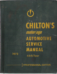 1973 Chilton's Automotive Service Manual