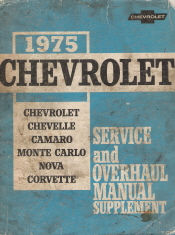 1975 Chevrolet Passenger Car Chassis Service and Overhaul Manual Supplement