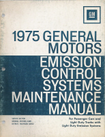 1975 GM Emission Control Systems Maintenance Manual
