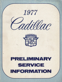 1977 Cadillac Service Manual Preliminary
