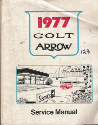 1977 Colt Arrow Service Manual