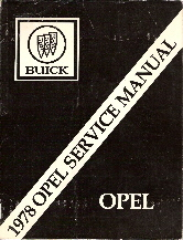 1978 Opel Factory Service Manual