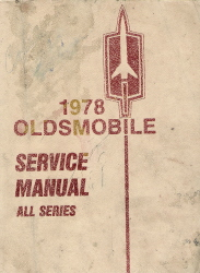 1978 Oldsmobile Factory Service Manual - All Series
