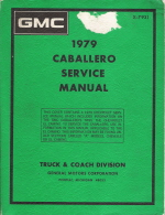 1979 GMC Caballero Service Manual