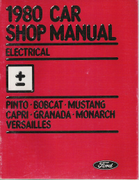 1980 Ford Car Electrical Shop Manual