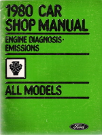 1980 Ford Car Shop Manual - Engine Diagnosis, Emissions