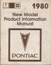 1980 Pontiac New Model Product Information Manual