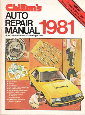 1974- 1981 Chilton's Auto Repair Manual