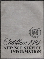 1981 Cadillac Advance Service Information Manual