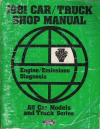 1981 Ford Car & Truck Shop Maunal - Engine & Emissions Diagnosis