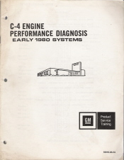 1980 GM C-4 Engine Performance Diagnosis Manual