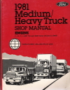 1981 Ford Medium/Heavy Truck Shop Manual - Engine