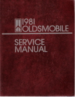 1981 Oldsmobile Chassis Service Manual
