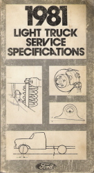 1981 Ford Light Truck Service Specifications
