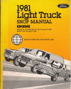 1981 Ford Light Truck Shop Manual - Engine - Bronco, Econoline and F-100 through F-350
