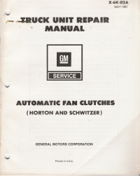 1981 GM Truck Unit Repair Manual - Automatic Fan Clutches
