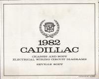 1982 Cadillac Seville Body Wiring Circuit Diagrams