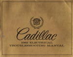 1982 Cadillac Electrical Troubleshooting Manual