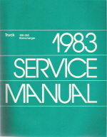 1983 Dodge 150-350 Pickups, Forward Control & Ramcharger Truck Factory Service Manual