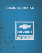 1983 Chevrolet Passenger Cars & Light Duty Trucks Powertrain Service Manual