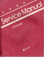 1984 Chrysler Conquest Service Manual and Transmission Supplement