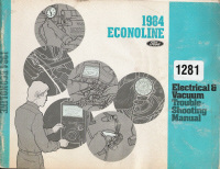 1984 Ford Econoline Electrical and Vacuum Troubleshooting Manual