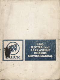 1985 Buick Electra and Park Avenue Chassis Service Manual