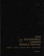 1985 Oldsmobile Chassis Service Manual - 2 Volume Set