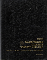 1985 Oldsmobile Chassis Service Manual