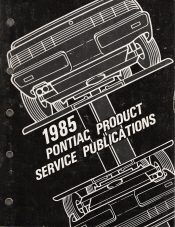 1985 Pontiac Product Service Bulletin Publications Manual