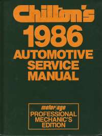 1982 - 1986 Chilton's Automotive Service Manual