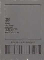 1986 Cadillac Deville, Fleetwood Service Manual - Initial Edition