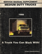 1986 GMC Medium Duty Trucks Service Manual Supplement