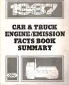 1987 Ford Car/Truck Engine & Emission Facts Book Summary