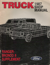 1987 Ford Truck Ranger & Bronco II Supplement Manual