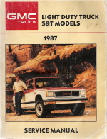1987 Chevrolet GMC Light Duty Truck - S&T Models Service Manual