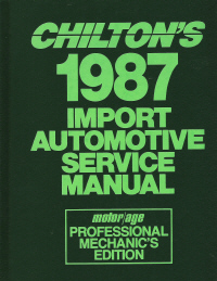 1980 - 1987 Chilton's Import Auto Service Manual, Shop Edition