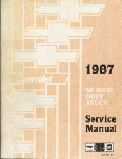 1987 Chevrolet Medium Duty Truck Factory Service Manual