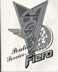 1987 Pontiac Fiero Service Manual