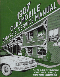 1987 Oldsmobile Factory Chassis Service Manual