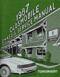 1987 Oldsmobile Toronado Factory Chassis Service Manual