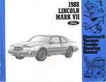 1988 Lincoln Mark VII Electrical and Vacuum Troubleshooting Manual