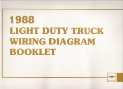 1988 Light Duty Truck Wiring Diagram Booklet