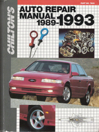 1989 - 1993 Chilton's Automotive Repair Manual