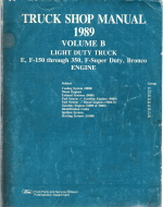 1989  Bronco, Econoline E100 thru E350 & F150 thru F350 Light Truck Shop Manual - Engine